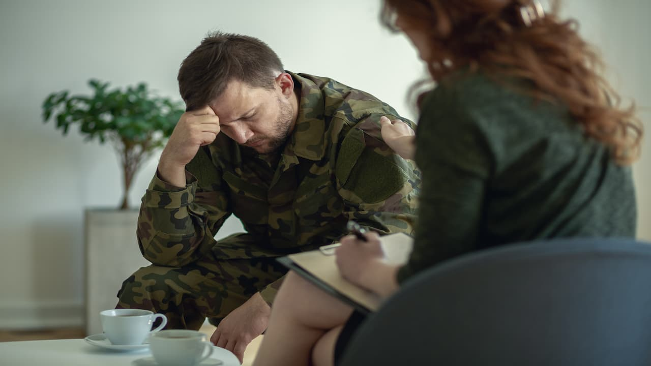 A soldier and his therapist