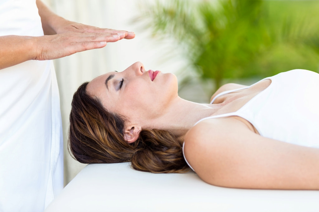 woman lying down on the therapy