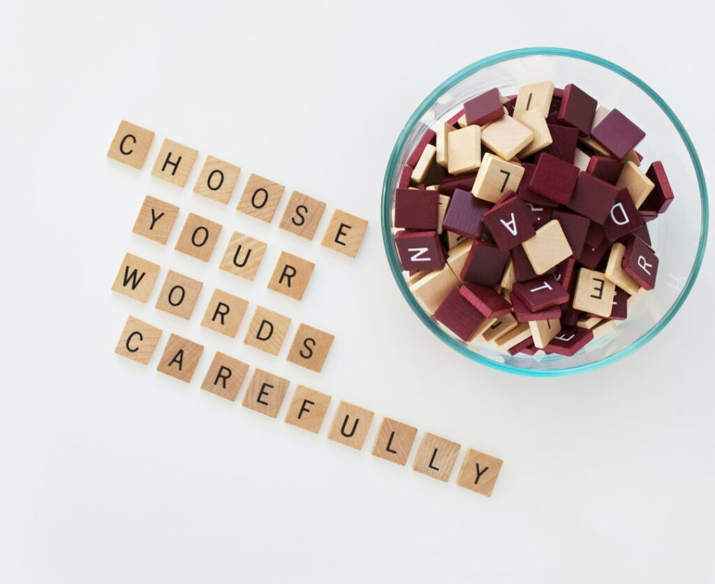Bowl with Letters & Words