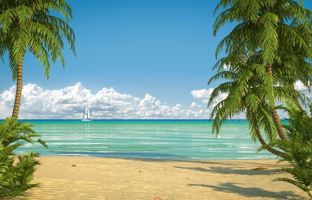 beautiful tropic beach view