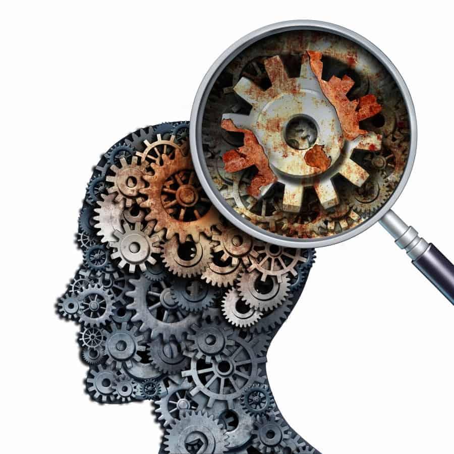 human memory mechanism illustration