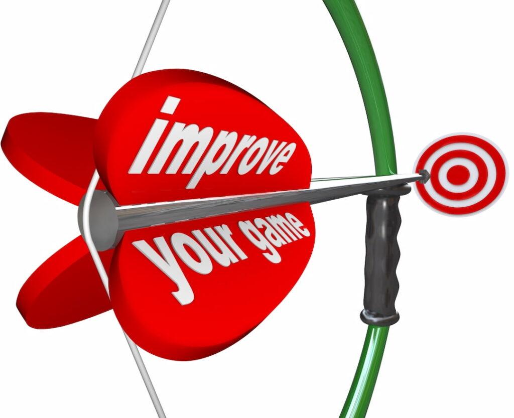 A bow, an arrow and improvement target Improvement
