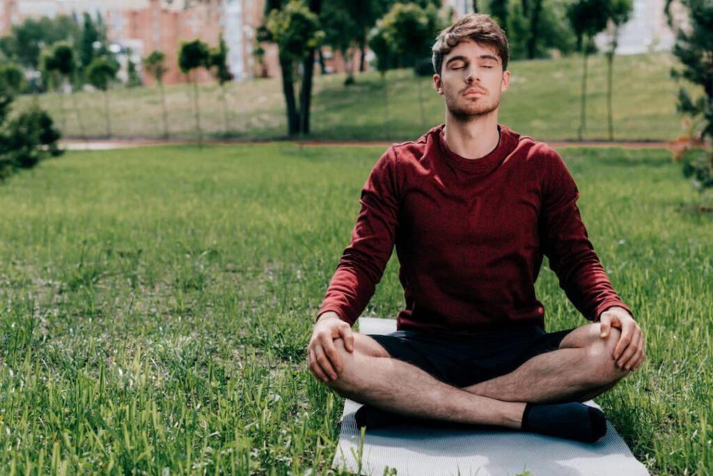 a men meditating