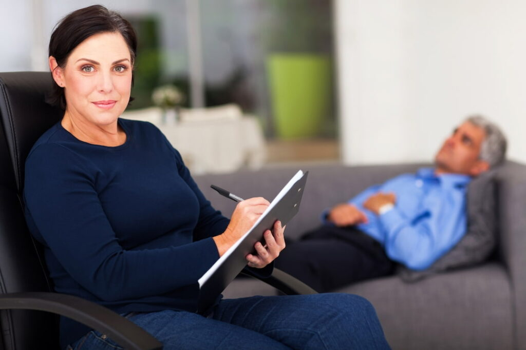 the female therapist and her patient
