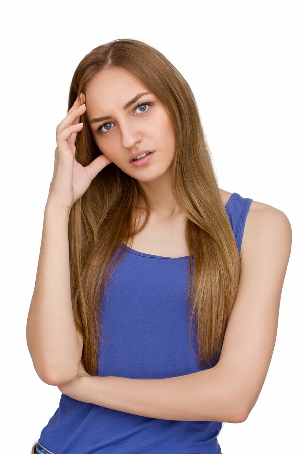 young woman feeling distressed